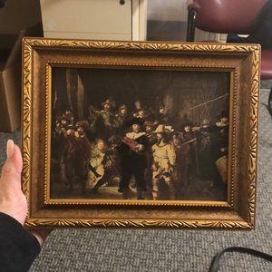 "Rembrandt Art Print  ""Night Watch"" Ornate Frame"